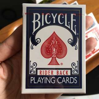 White/Blue Bicycle Deck