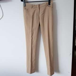 Creme Working Pants Slim Basic