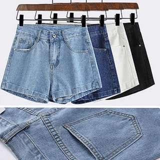 🚚 高腰顯瘦牛仔短褲