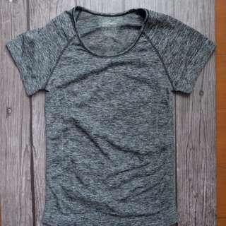 Grey Running/Aerobic/Yoga Shirt