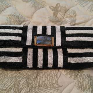 Brand New Mary Frances Beaded Clutch Handbag