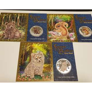 2013 Forest Babies 1/2oz Silver Proof Coin [Set of 3]