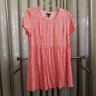 Forever21 floral shirt dress