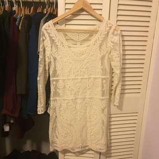 XS white Express dress