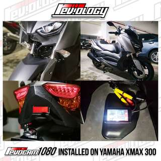 Revocam 1080 HD Motorcycle Front & Rear Camera On YAMAHA XMAX 300