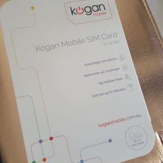 Kogan sim card phone mobile nano standard chip