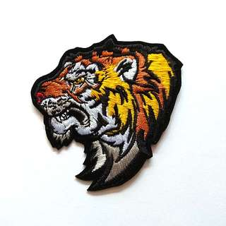 Tiger Rage Jacket Vest Craft Iron On Patch