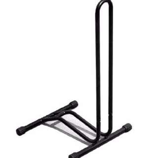 Bicycle Cycling Bike Parking Rack Storage Stand Repair Rack Holder L Shape (Black)