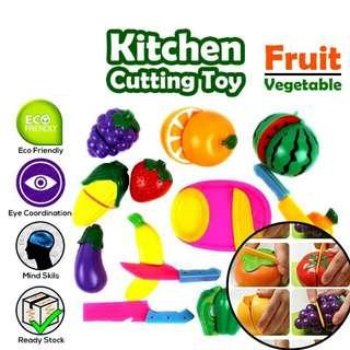 8PCS Realeos Kitchen Food Cutting Fruit Vegetable Kid Toy - R349