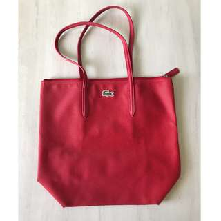 Lacoste Red Tote Bag