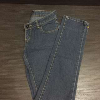 folded and hung denims