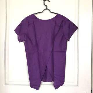 Purple 2 Ways Top (bisa dipakai depan belakang)