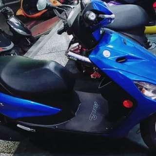 Yamaha 山葉 勁豪125 藍色鼓煞