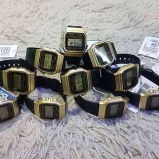 Casio F91 Black Gold