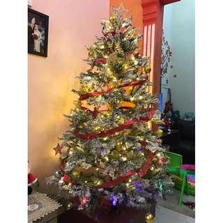 Christmas Tree (Pohon Natal) Salju + Cherry MURAH