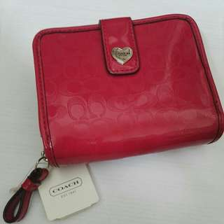 *New*Reddish pink coach wallet