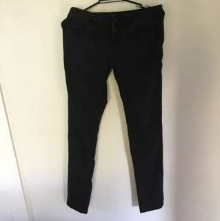 Black Bumster Skinny Jeans