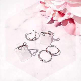 Rose gold x5 fashion knuckle rings
