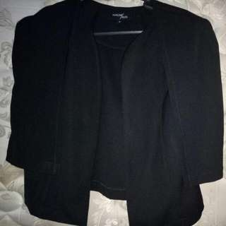 CAPE BLAZER BLACK