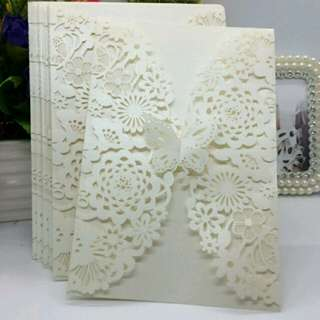 Debut and Wedding laser cut invitations #debut #wedding #invitation #white #floral #cheap #affordable #butterfly #birthday