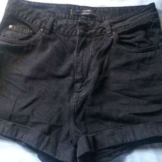 Black High Wasted shorts