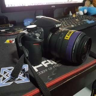 Nikon d3100 body and lens