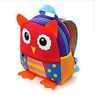 Kids toddler baby pre school bag backpack little owl animal cute
