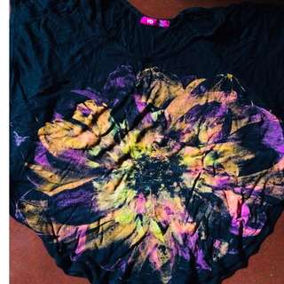 Black Neon Flowers Inspired Crop Top