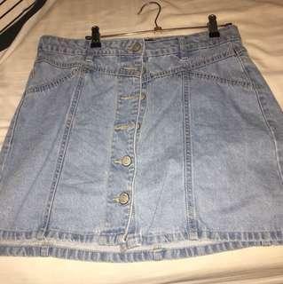 factorie high waisted denim skirt