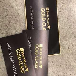 GV Gold Class Tickets + $20 meal voucher