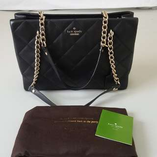 Authentic Kate Spade quilted chain tote bag coach and michael kors