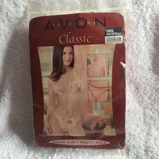 Avon Fashions Classic Anna 3-in-1 Panty Pack Large