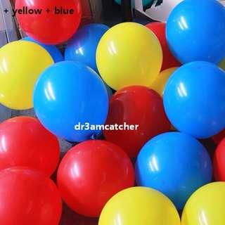 30 latex balloons for circus theme