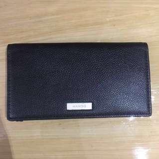 Mango Bi-Fold Black Leather Wallet