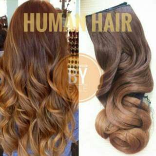 #HUMAN HAIR MIX 5 CLIPS EXTENSIONS