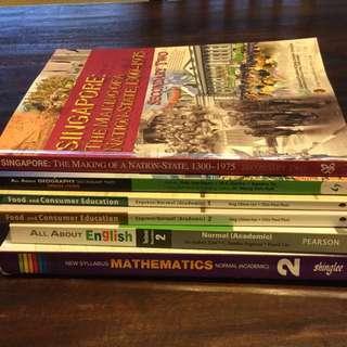 Sec 2 textbooks