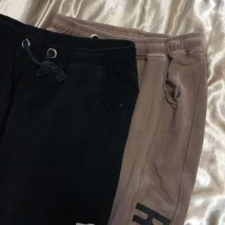 Dusty pink & black Trackpants