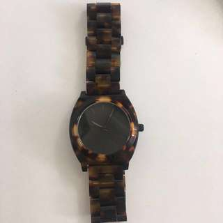 Nixon Time Teller Watch Acetate Tortoiseshell