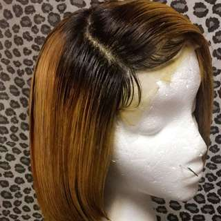 Human hair wig ( Yellow not Blonde )