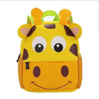 Kids School Bag backpack toddler children waterproof cute little giraffe design new