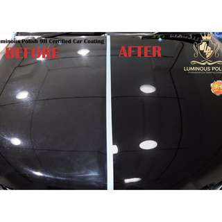 9H CAR COATING AT ONLY $220 NETT !!!!!! with 2 years warranty !!!!!!