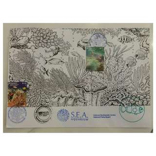 2017 Singapore - Indonesia Joint Stamp Issue - Corals Private FDC