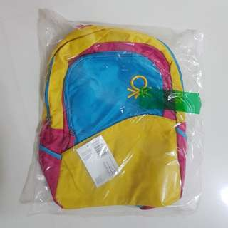NEW Benetton backpack!