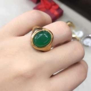 Jade Gold Ring #6