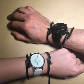 Minimalist BW Couple Watch Set