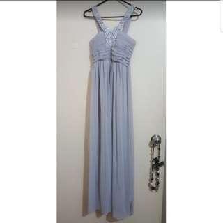 Grey formal dress sz 10