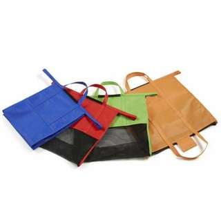 Set of 4 Handy & Reusable Shopping Trolley Carrier Bags