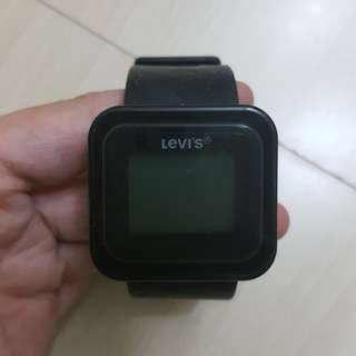levi's 電子錶 有少花
