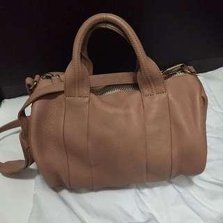 Alexander Wang Rocco pale gold leather shoulder bag