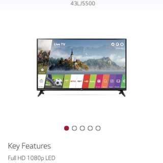 LG 43 Inch Smart TV (LG43LJ55) BNIB